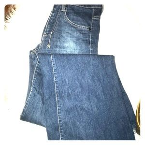 Medium Wash Wide-leg Denim